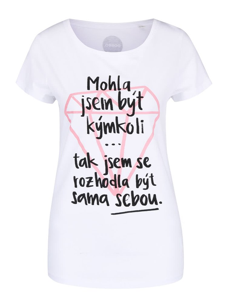 """""""Dobré"""" bílé dámské tričko s potiskem pro Dove"""