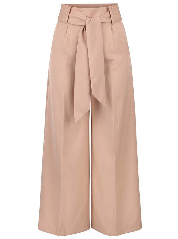 Béžové culottes so šerpou v páse LYDC