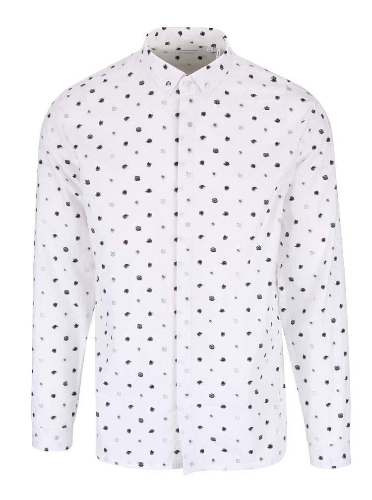 Krémová košeľa s bodkami Lindbergh