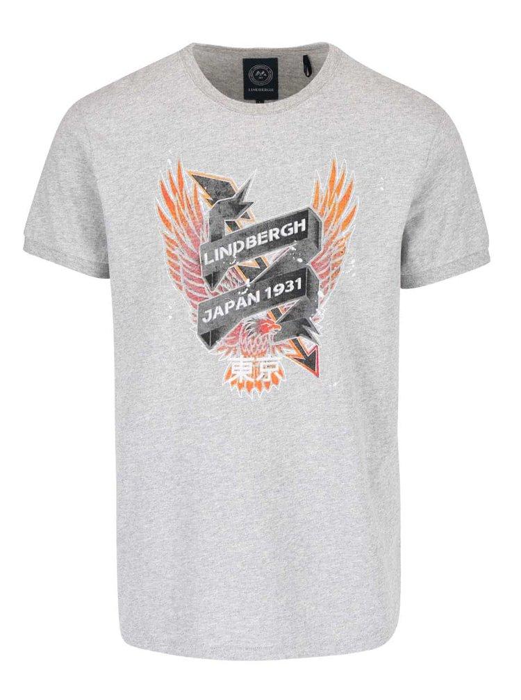 Tricou gri Lindbergh cu print