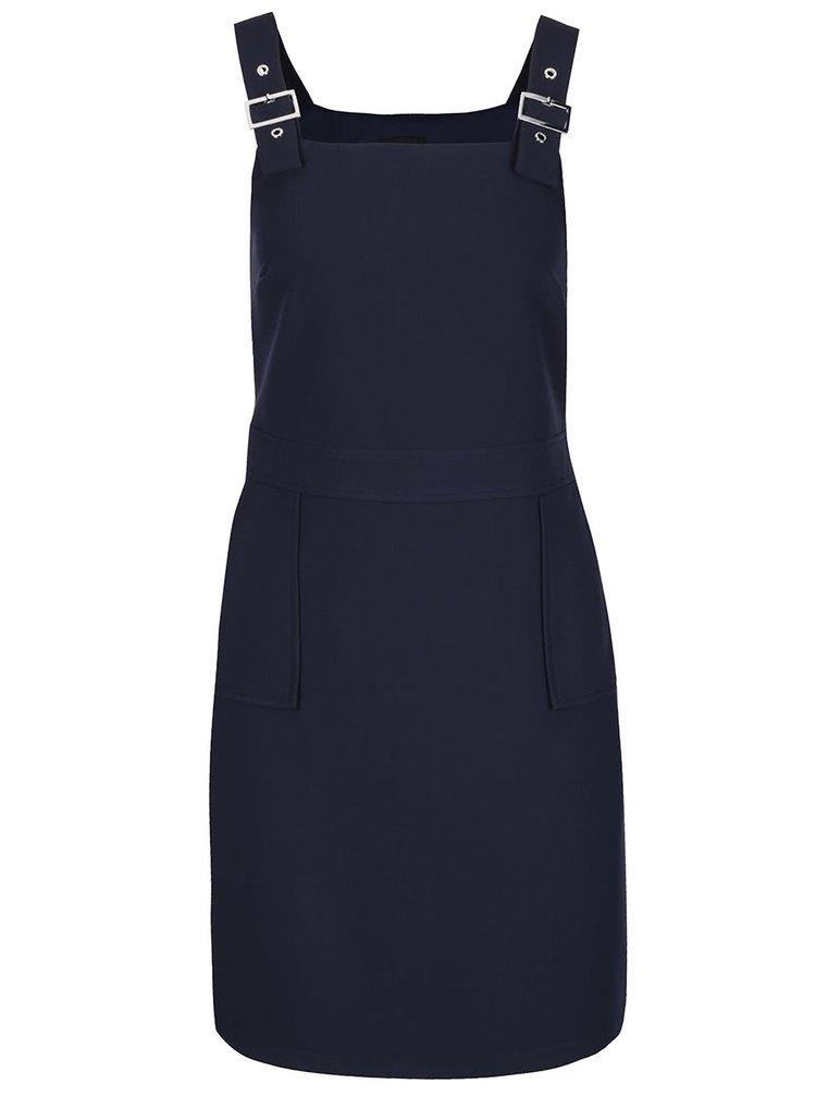 Tmavě modré šaty s nastavitelným laclem a kapsami Dorothy Perkins