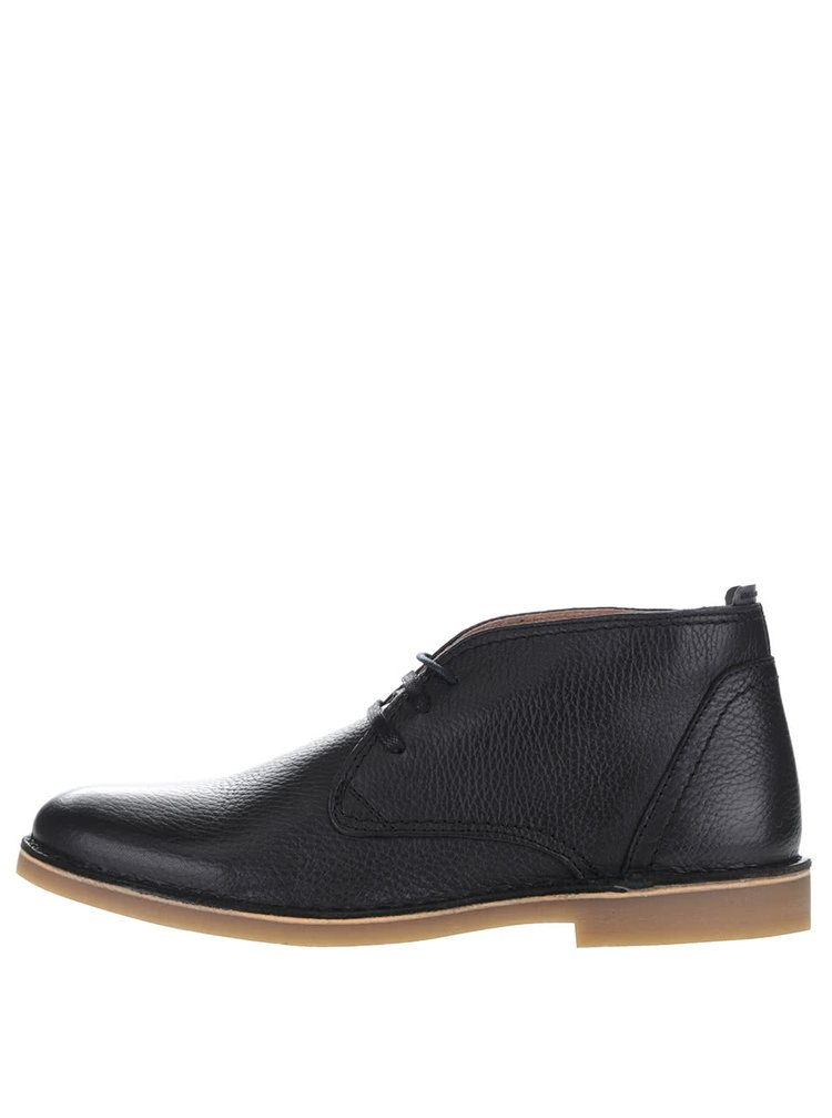 Ghete negre Selected Homme New Royce din piele