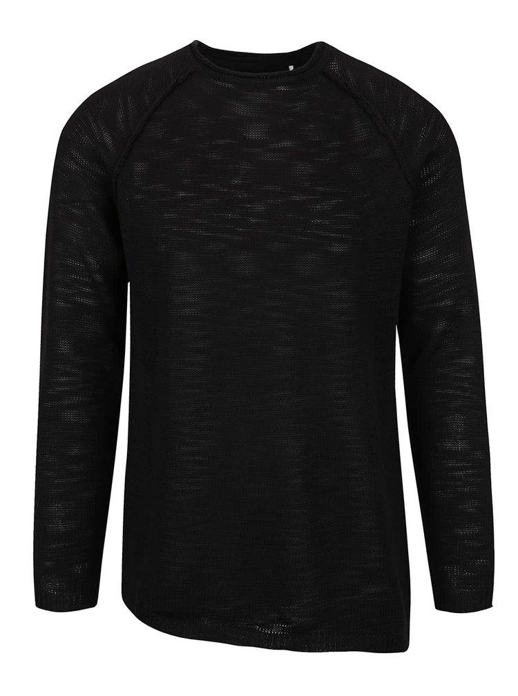 Pulover negru Shine original cu croi asimetric