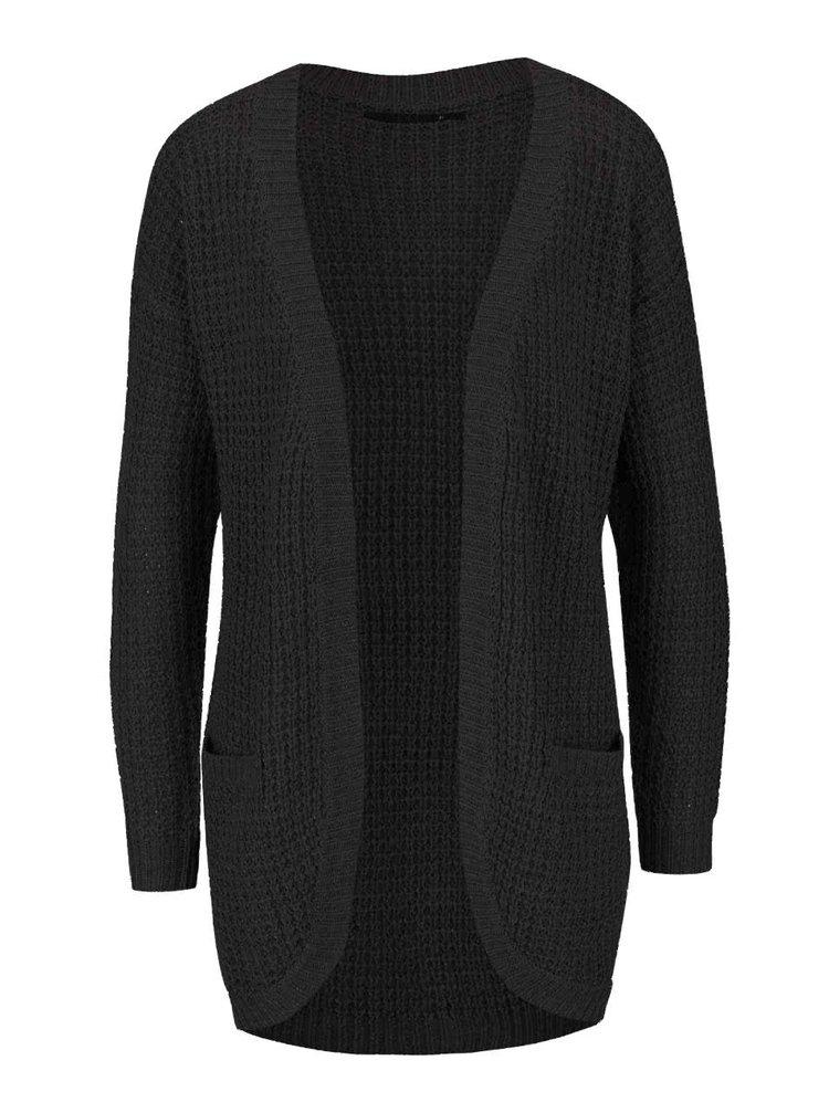 Cardigan lung negru ONLY Emma tricotat
