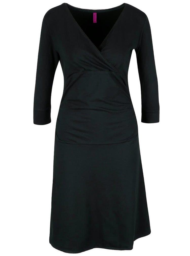 Tmavozelené šaty s prekladaným výstrihom Tranquillo Giulia