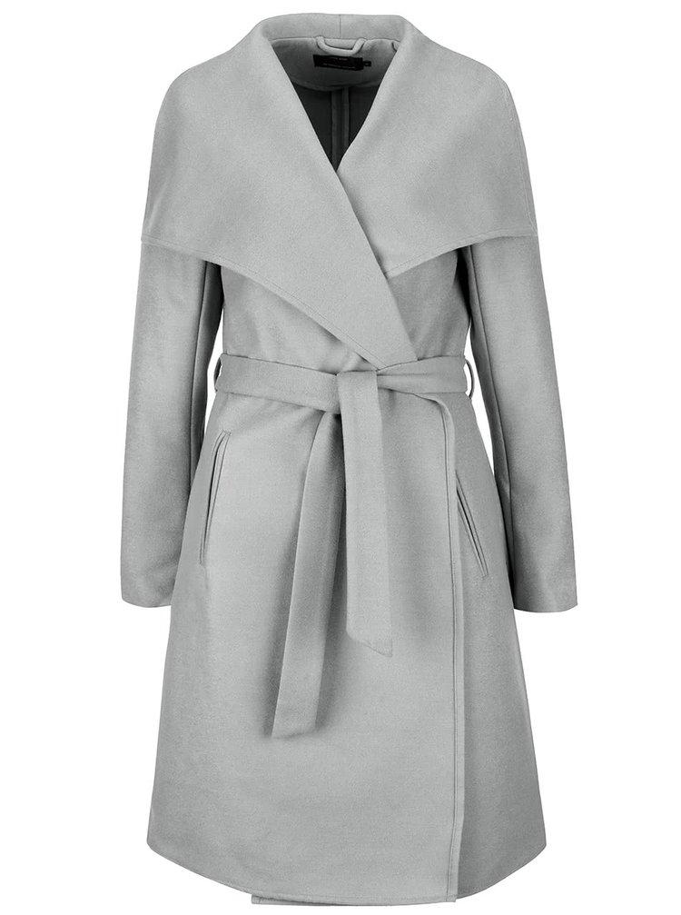 Svetlosivý kabát ONLY New Phoebe