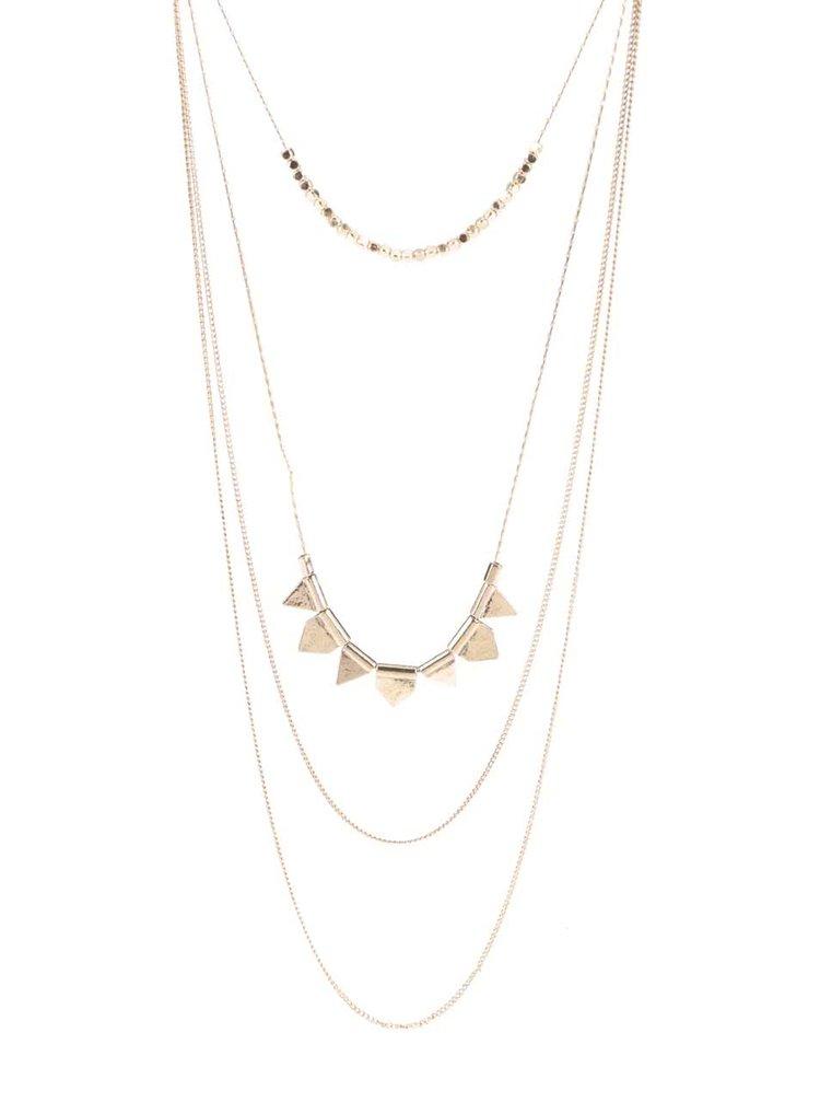Kaskádovitý náhrdelník ve zlaté barvě Pieces Palea