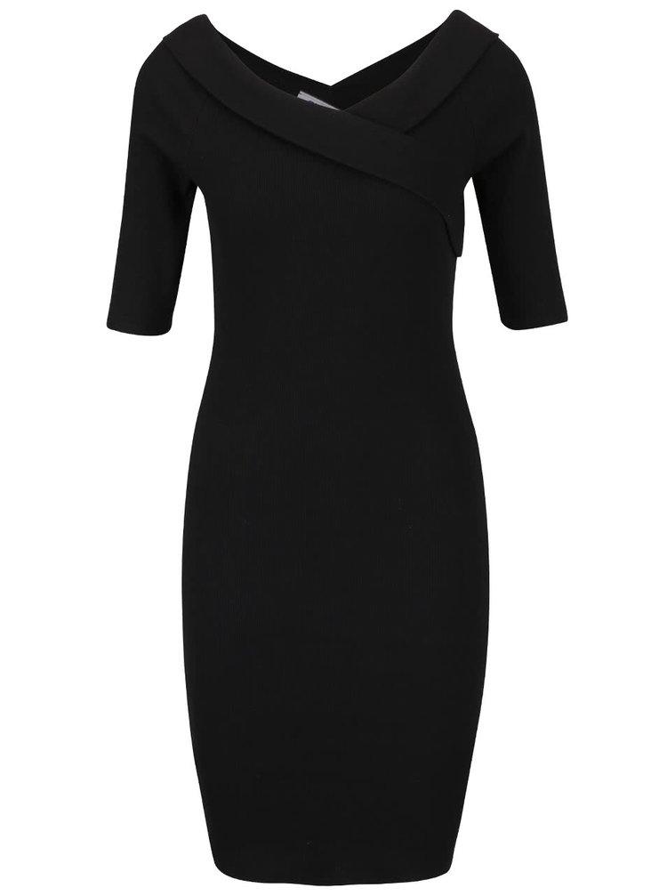 Čierne šaty so spadnutými ramenami ONLY Manja