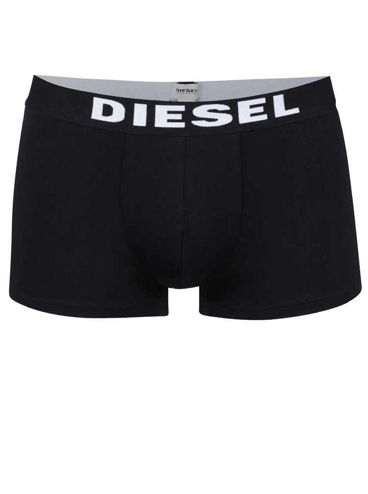 Černé boxerky s širokou gumou Diesel