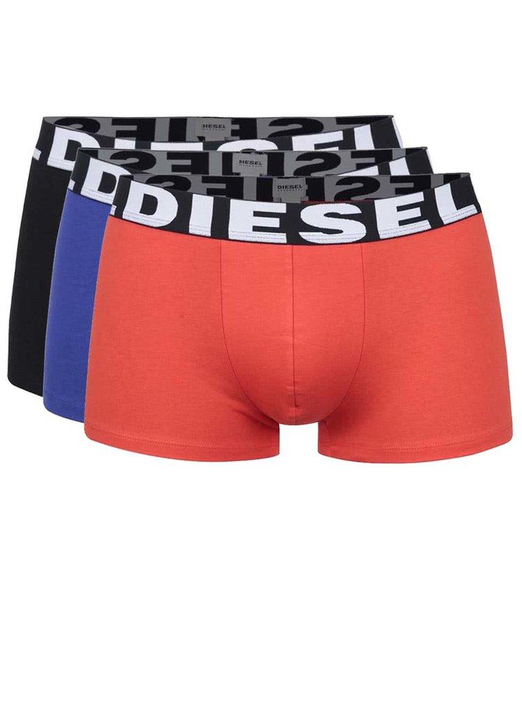 Set multicolor cu trei perechi de boxeri Diesel