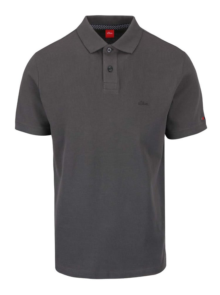 Tricou polo gri inchis s.Oliver din bumbac