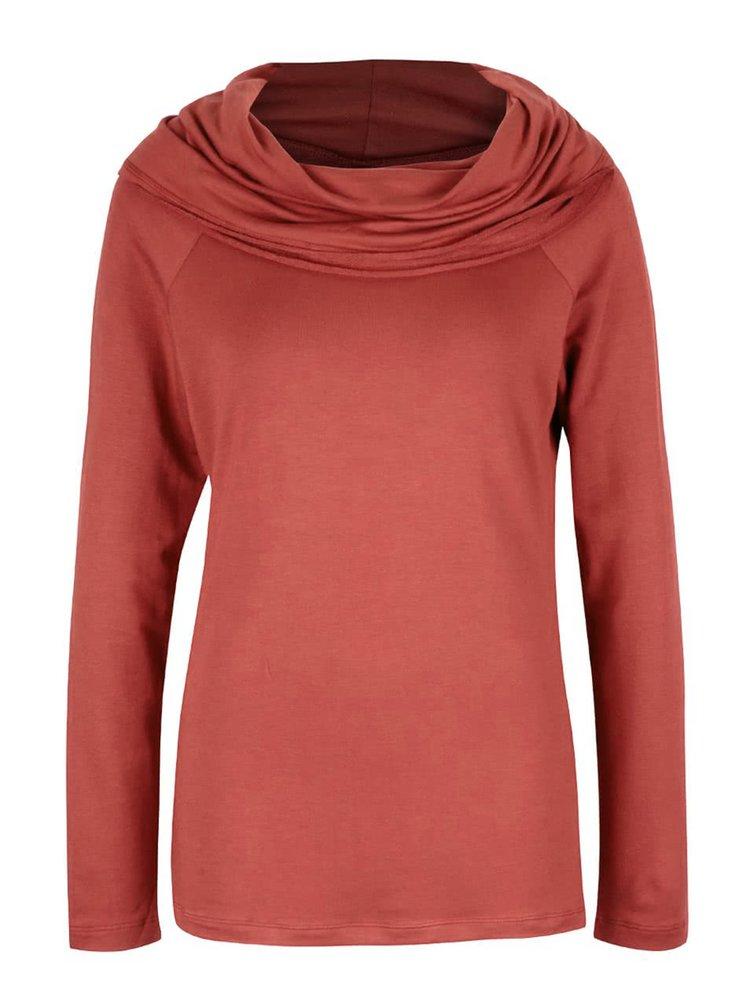 Bluză roșu cărămiziu Tranquillo Siku cu guler amplu