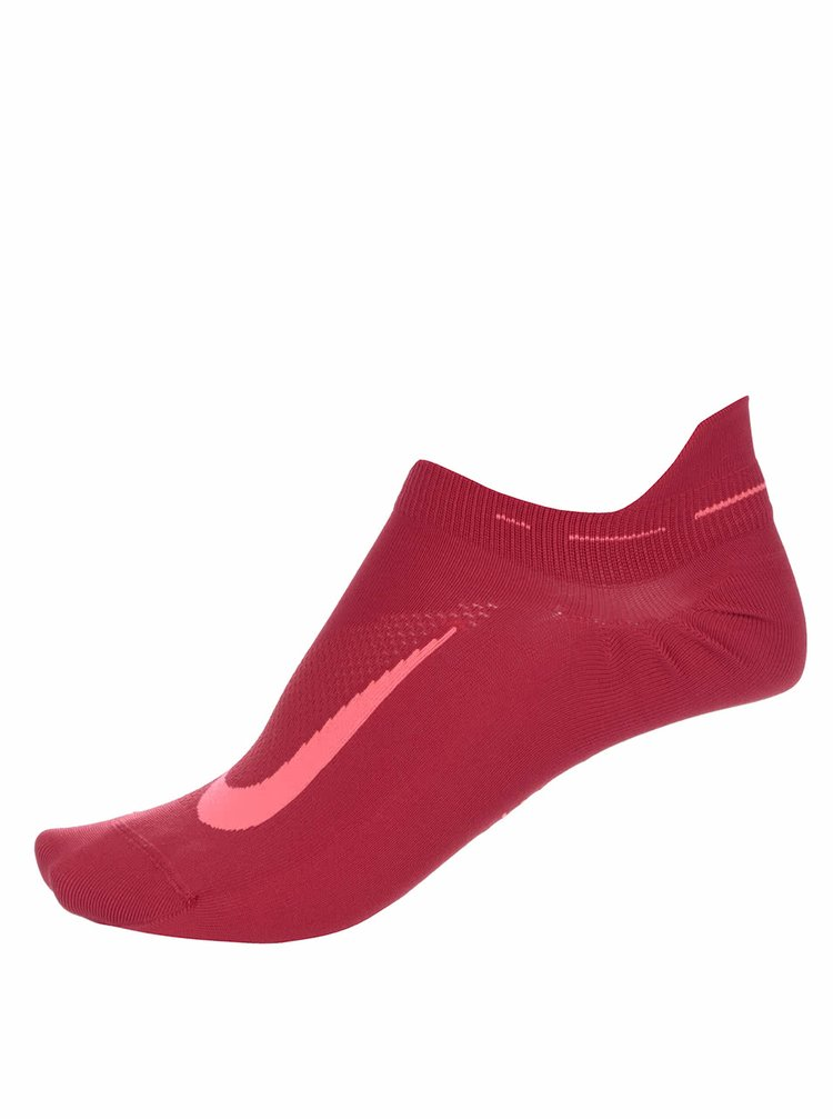 Červené unisex členkové ponožky Nike Elite Running