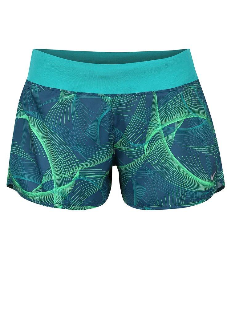 Tmavě zelené dámské kraťasy Nike Flex