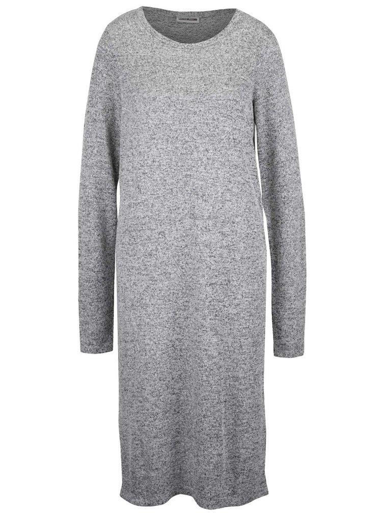 Rochie pulover gri Noisy May Peach cu mâneci lungi