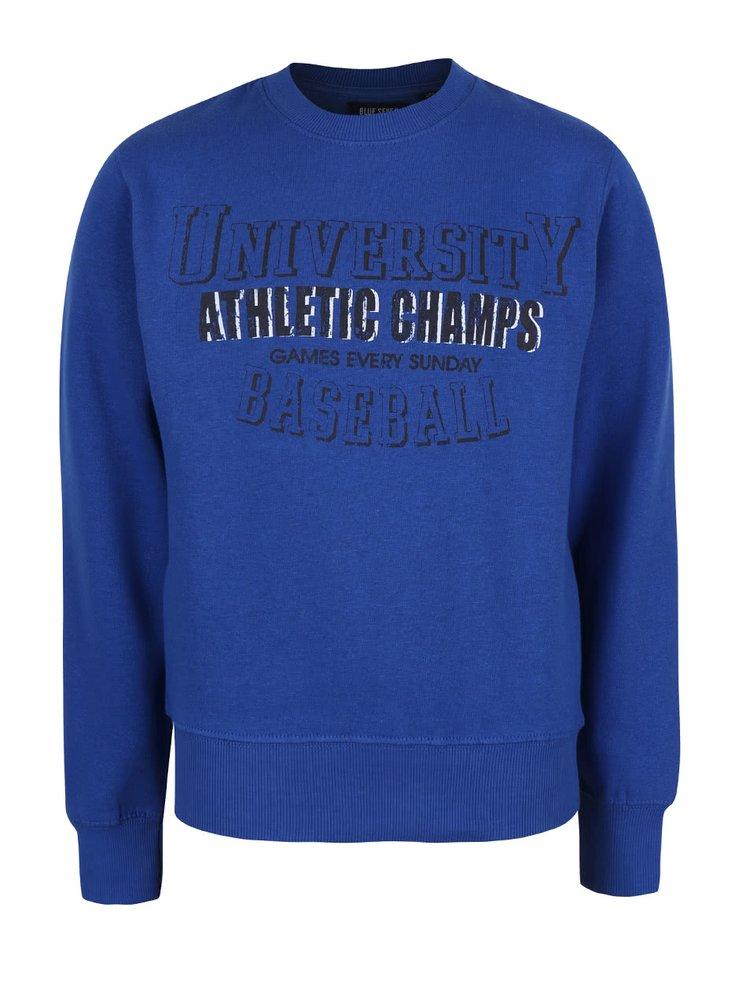 Bluză cu imprimeu Blue Seven albastră