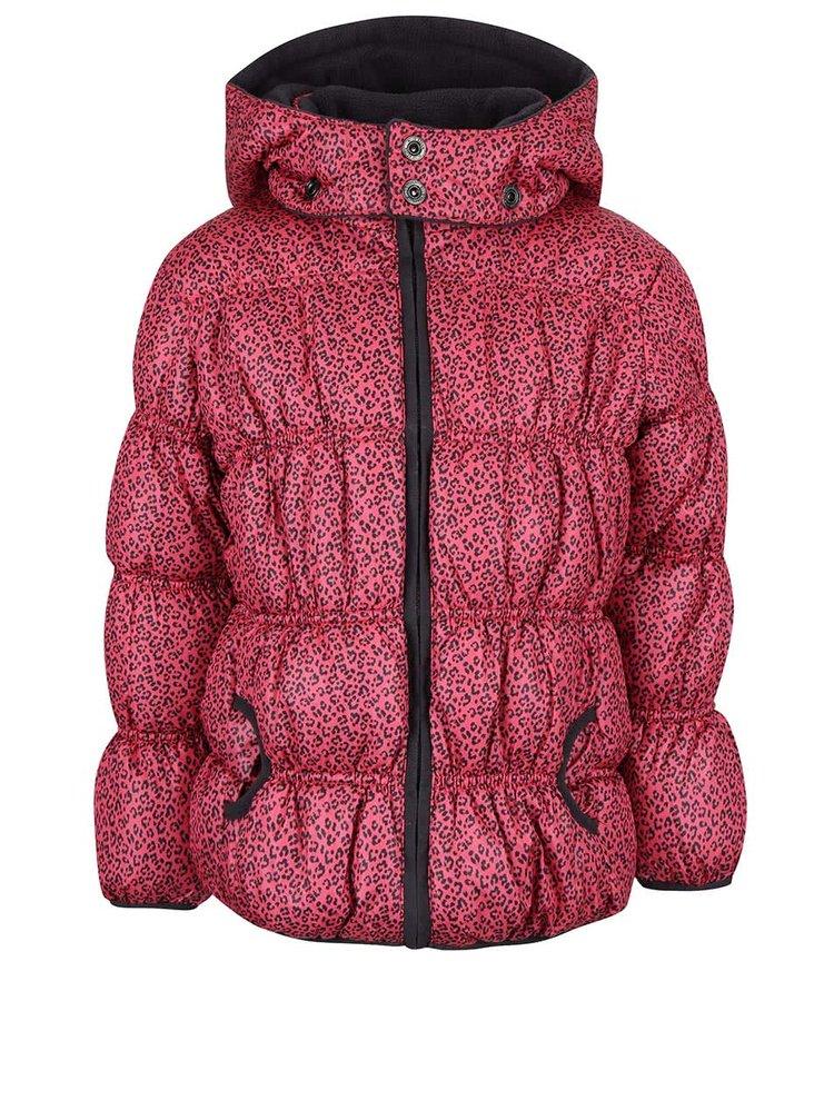 Šedo-růžová holčíčí prošívaná vzorovaná bunda Blue Seven