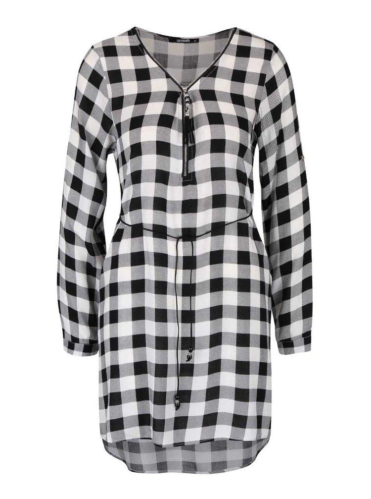 Čierno-biele kockované šaty Haily´s Cathrine