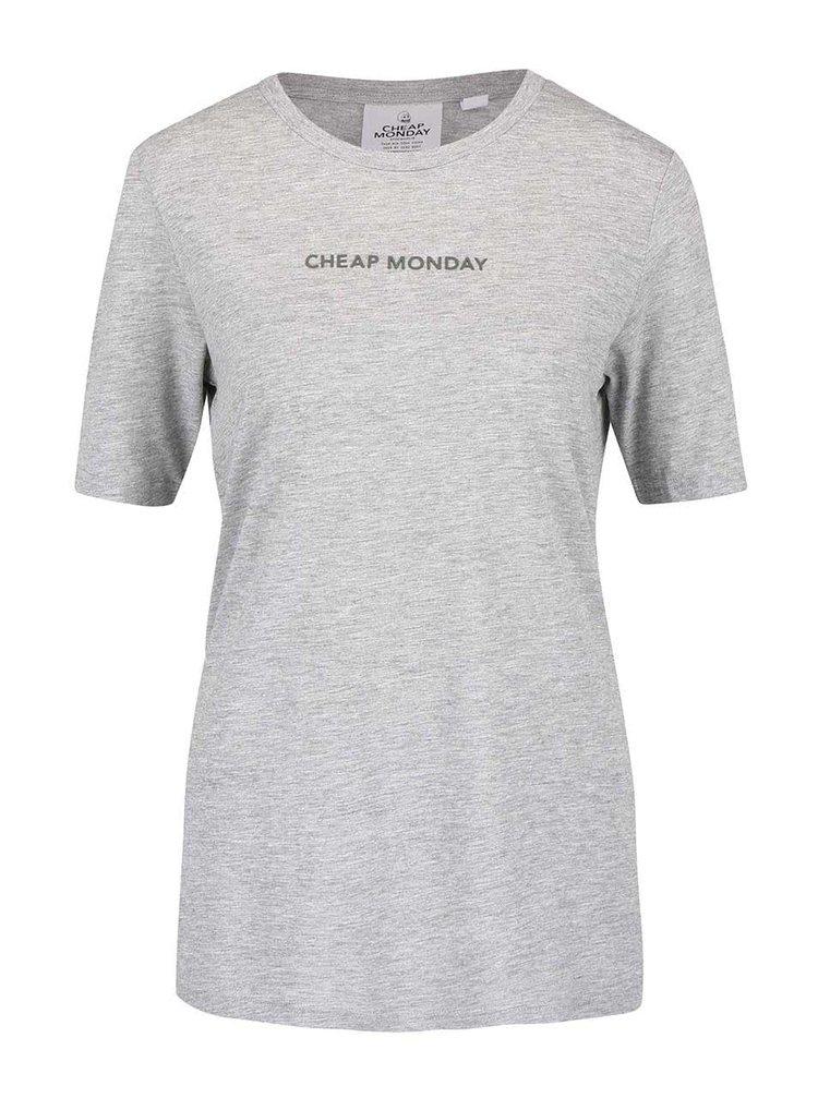 Šedé dámské žíhané tričko s nápisem Cheap Monday Break