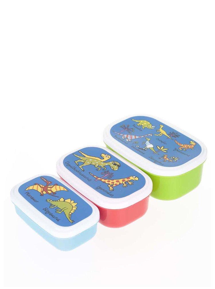 Set 3 cutii pentru gustări Tyrrell Katz Dinosaurus pentru băieți