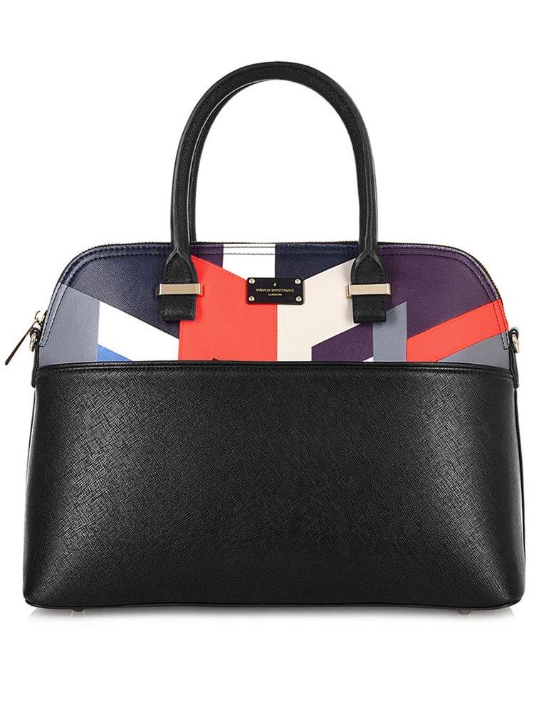 Černá kabelka s barevnými geometrickými vzory Paul's Boutique Maisy