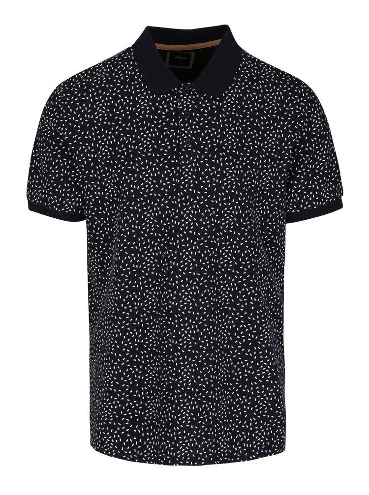 Tricou polo cu imprimeu Burton Menswear London negru