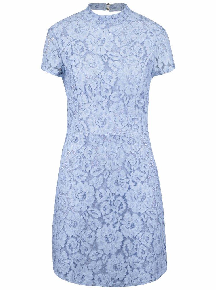 Světle modré krajkové šaty Miss Selfridge