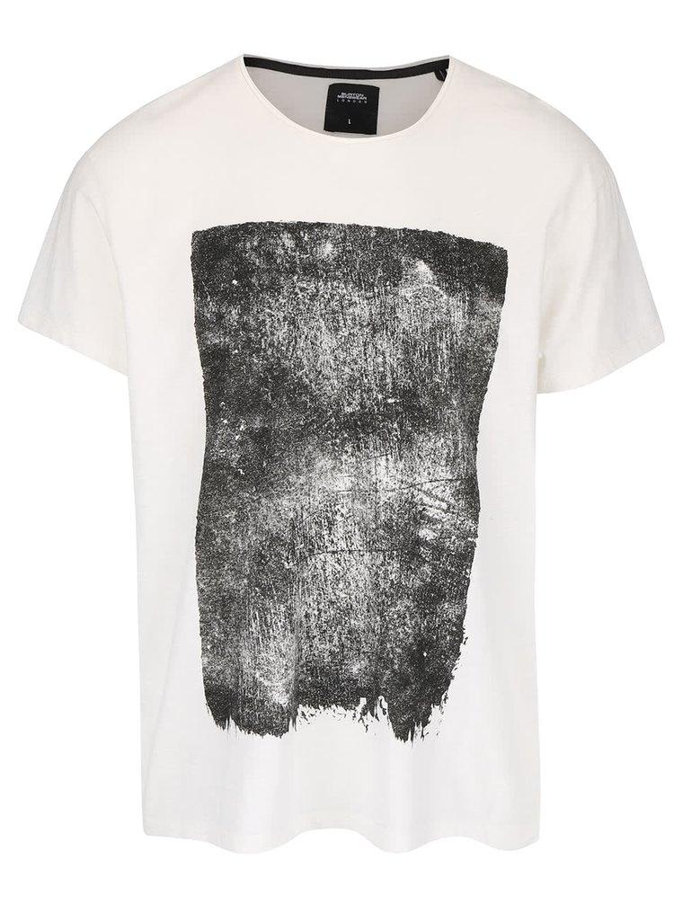 Krémové triko s potiskem Burton Menswear London