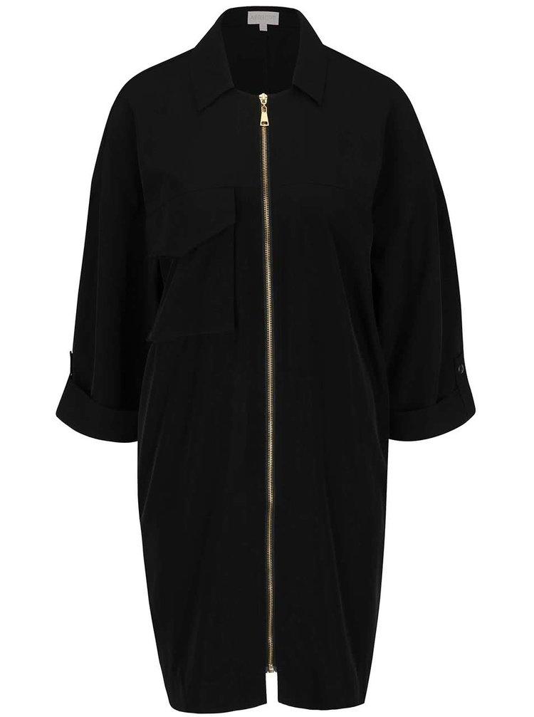 Černé volné šaty na zip Apricot