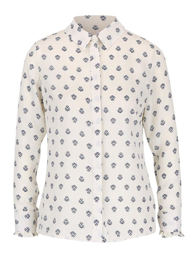 Krémová vzorovaná košile Dorothy Perkins