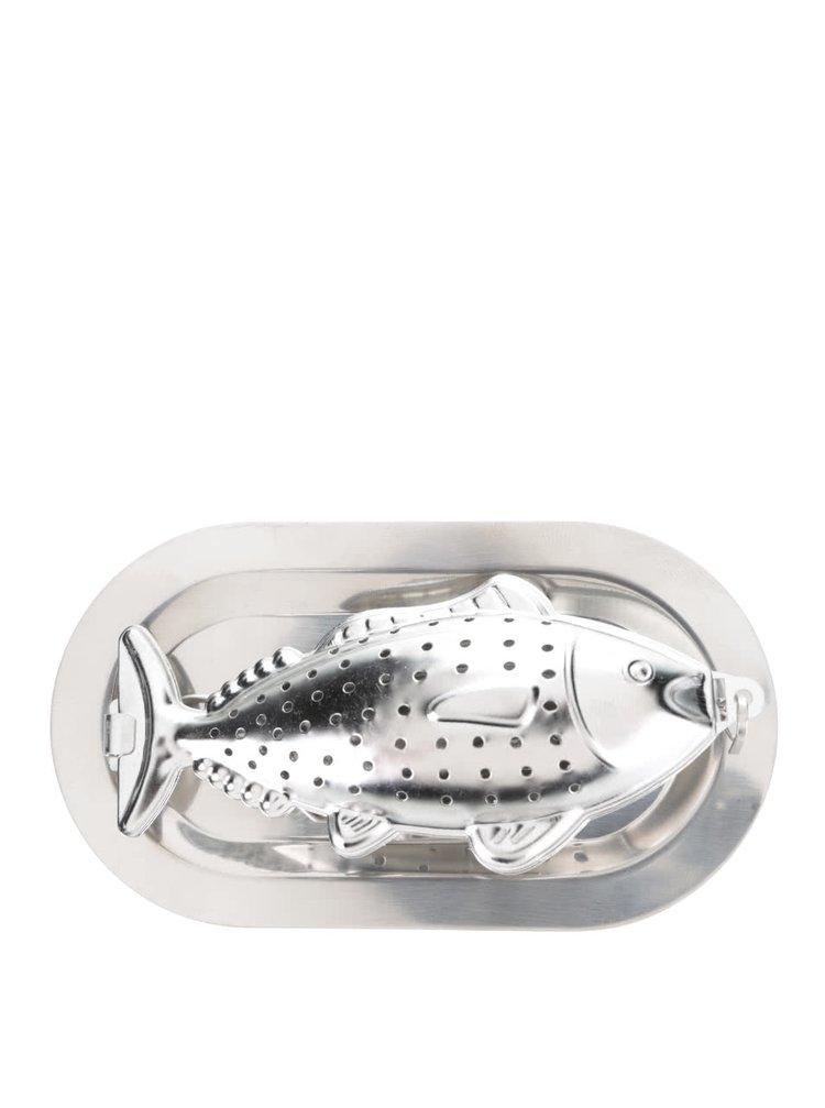 Ocelové sítko na čaj ve tvaru ryby Kikkerland