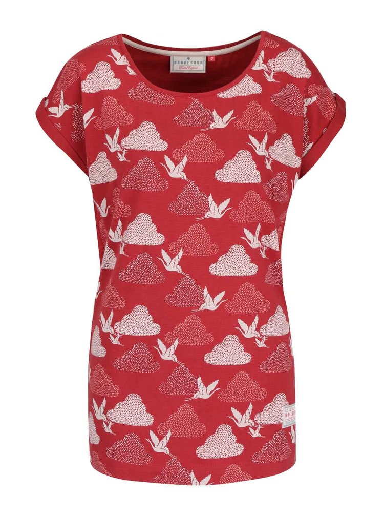 Cihlové tričko s potiskem ptáčků Brakeburn Cranes Boyfriend