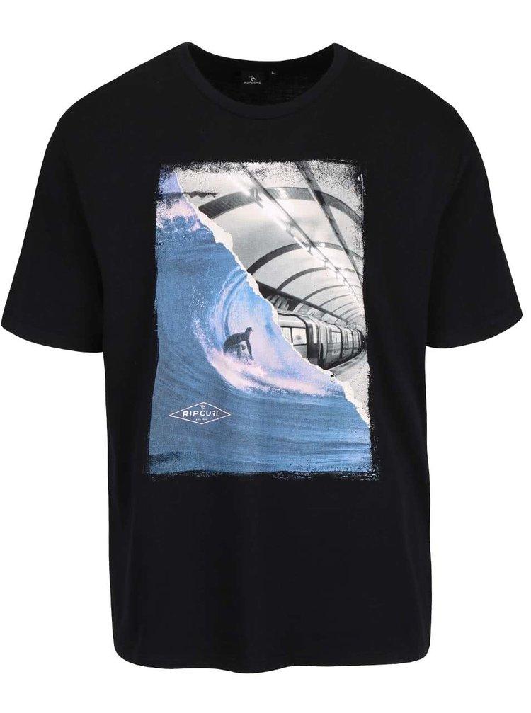 Černobílé pánské triko s potiskem Rip Curl G/B Day SS Tee