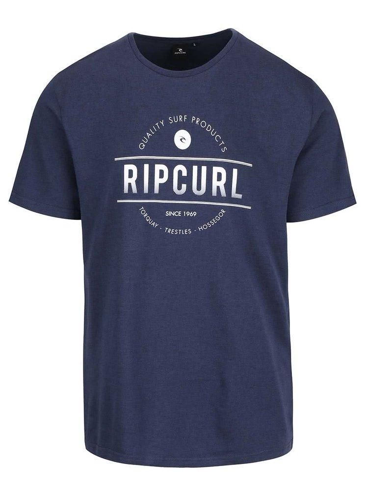 Tricou albastru Rip Curl Rounded SS Tee cu imprimeu pentru bărbați