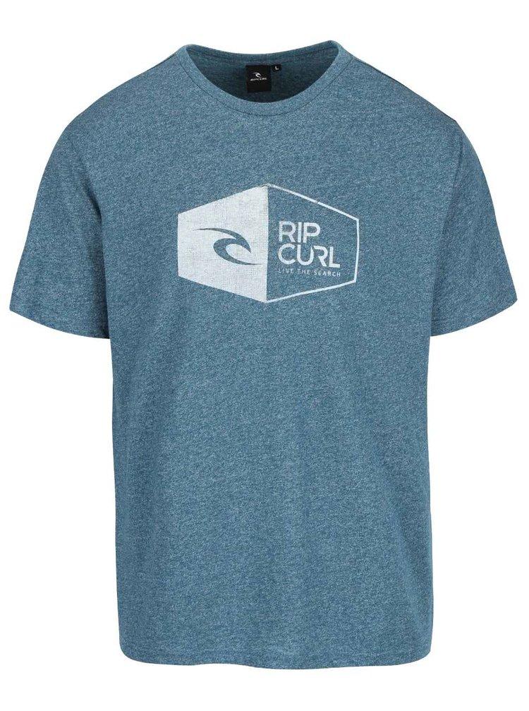 Modré melírované pánske tričko s potlačou Rip Curl 3D Icon SS Tee