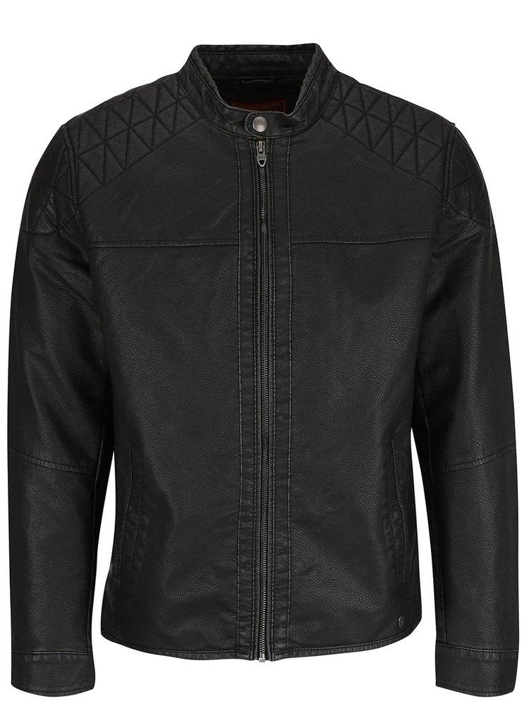 Černá koženková bunda Jack & Jones Ben