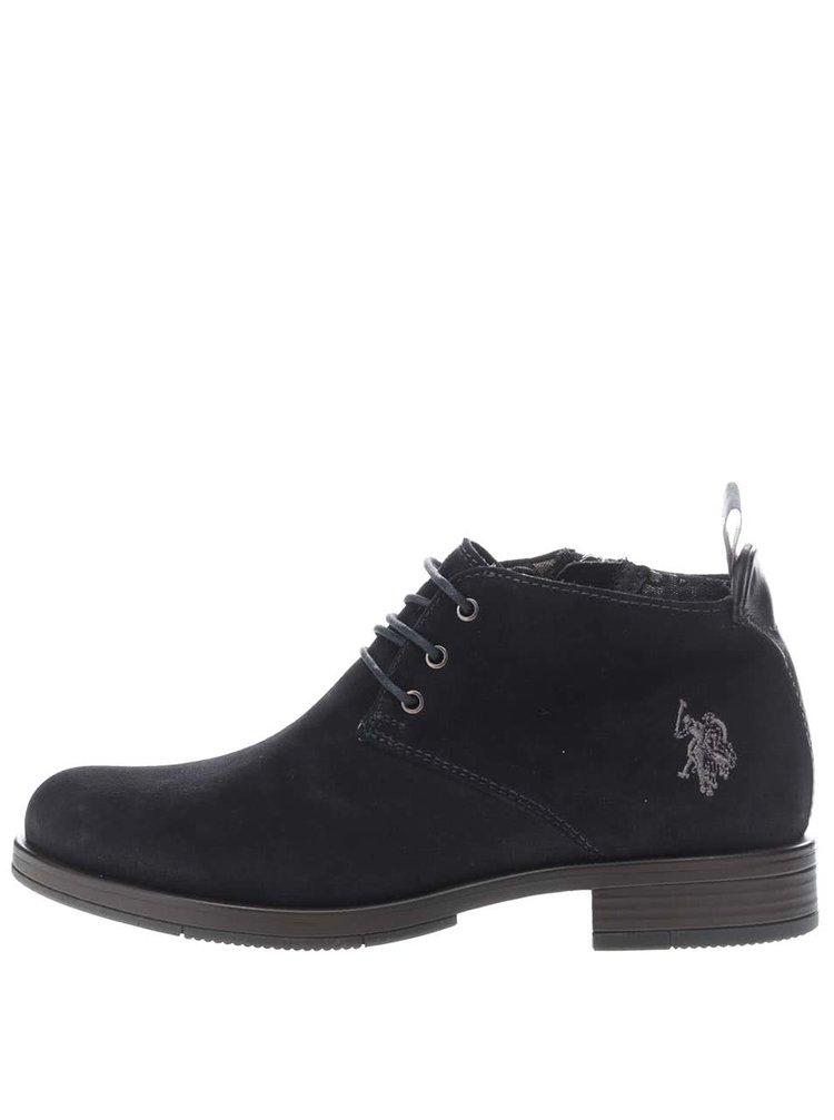 Tmavě modré dámské semišové kotníkové boty U.S. Polo Assn. Palmira