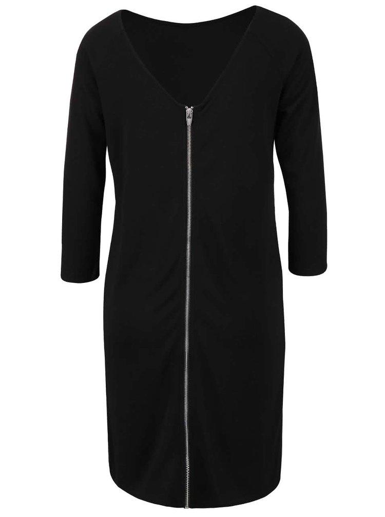 Černé šaty se zipem 3 v 1 VILA Tinny
