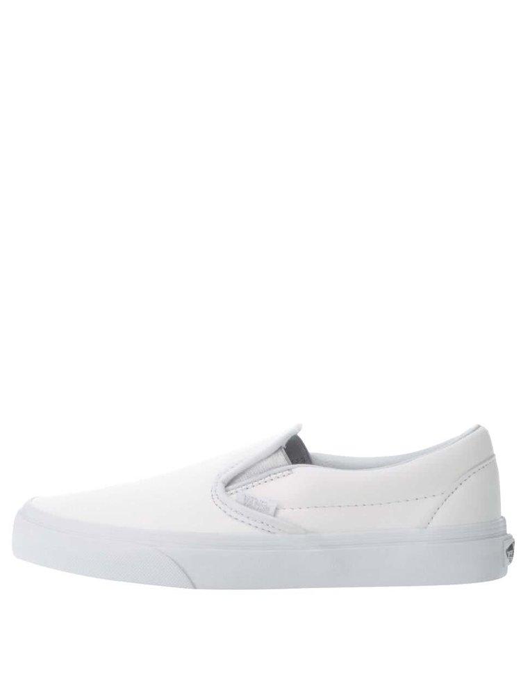 Teniși slip-on albi VANS Classic din piele