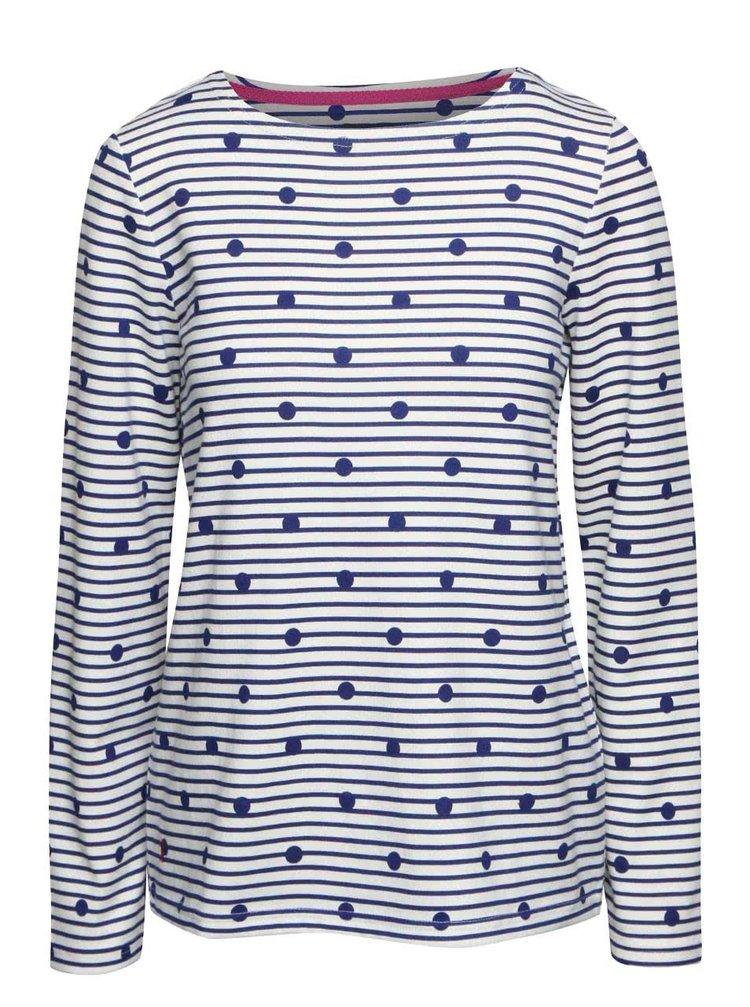 Bluză crem Tom Joule Harbour din bumbac cu model discret
