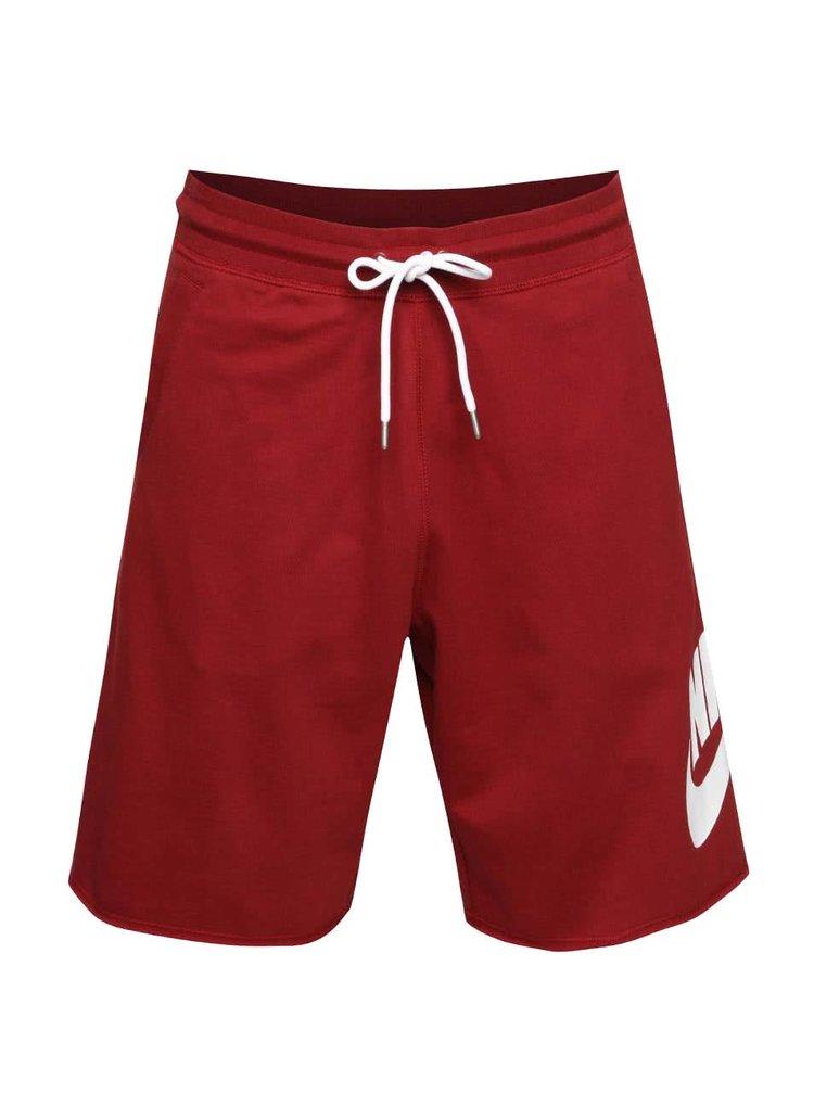 Vínové pánske kraťasy Nike Short