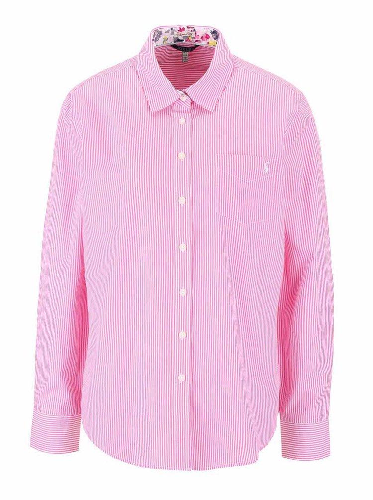 Ružová dámska pruhovaná košeľa Tom Joule Lucie