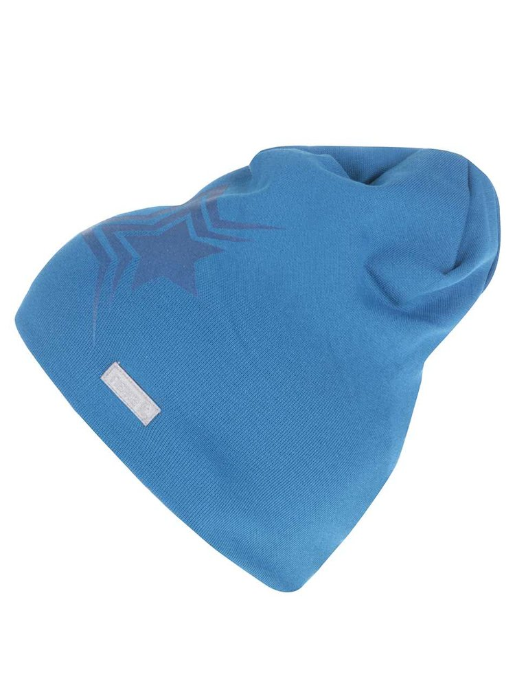 Modrá chlapčenská čiapka s potlačou hviezdy name it Moppy