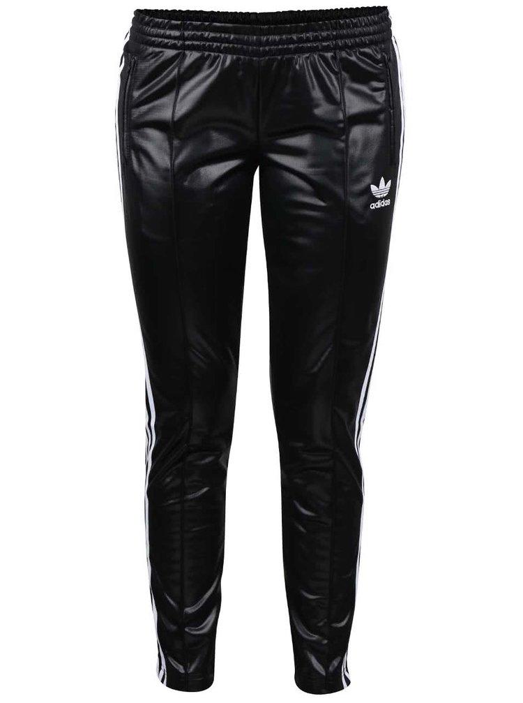 Černé dámské lesklé tepláky adidas Originals
