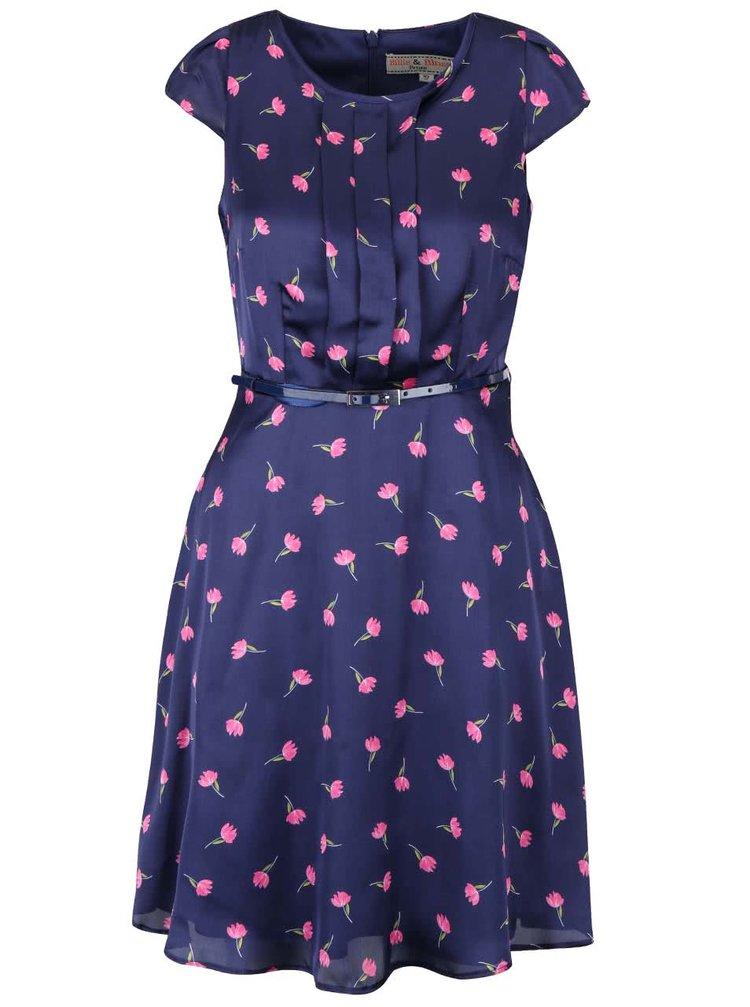 Rochie albastră Dorothy Perkins Petite cu imprimeu