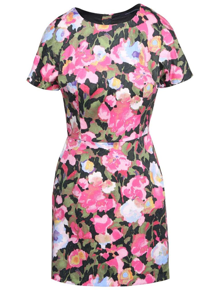 Zelené květované šaty French Connection Adeline