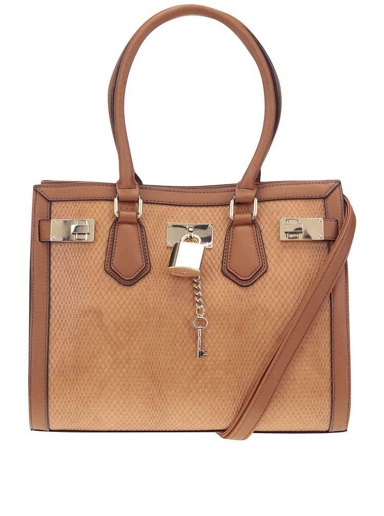 Hnědá kabelka s detaily ve zlaté barvě ALDO Gilliam