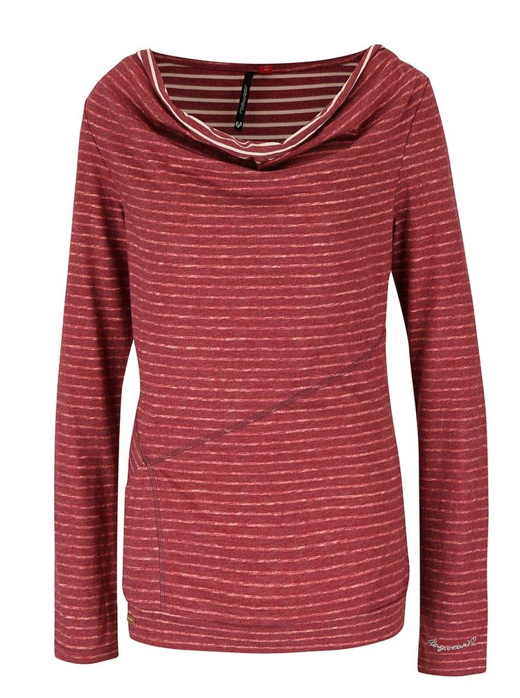Bluză roșie Ragwear Yolanda cu dungi