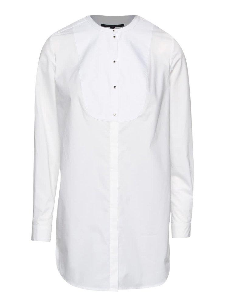 Biela dlhšia košeľa French Connection Southside