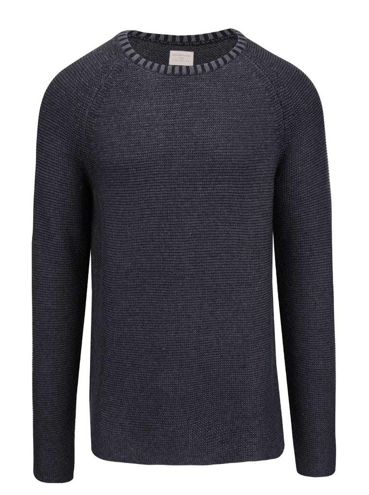 Tmavomodrý sveter Selected Homme Mel